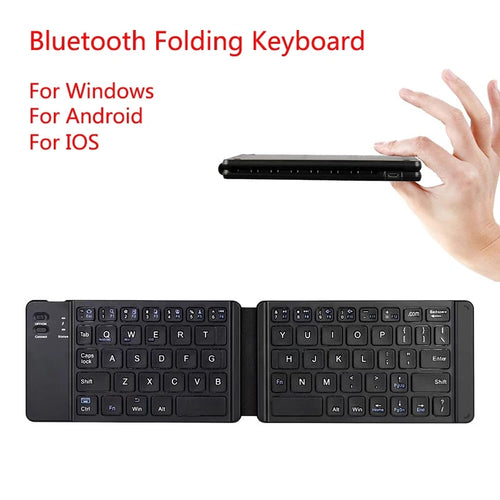 Light-Handy Bluetooth Folding Mini Backlit Keyboard Foldable Wireless Keypad