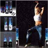 Free Shipping Dancing Water Speaker Active Portable Mini USB LED Light Speaker - Shopatronics