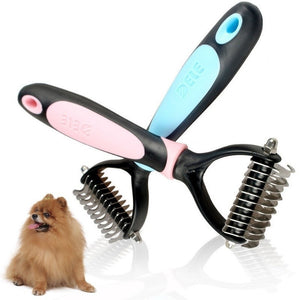 New Dog Pet Cat Fur Dematting Grooming Deshedding Trimmer Tool Comb Brush Free Shipping - Shopatronics