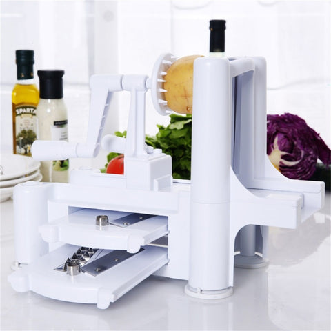 Free Shipping 1/Set New and Essential Tri-Blade Slicer Vegetable Spiral Cutter - Shopatronics