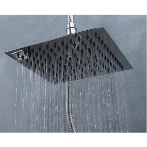 High Quality New 15x15cm Stainless Steel Square Shower Head Ultrathin Rainfall Bathroom Shower Head - Shopatronics