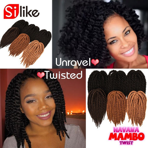 "Havana Mambo Twist Crochet Braids Synthetic crochet braiding hair extensions 80g/pack 14"" Afro twist crochet hair - Shopatronics - One Stop Shop. Find the Best Selling Products Online Today"