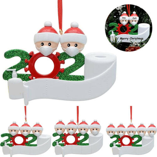 Name Wishes Christmas Pendant Blessings PVC Mask Snowman Christmas Tree Hanging Pendant