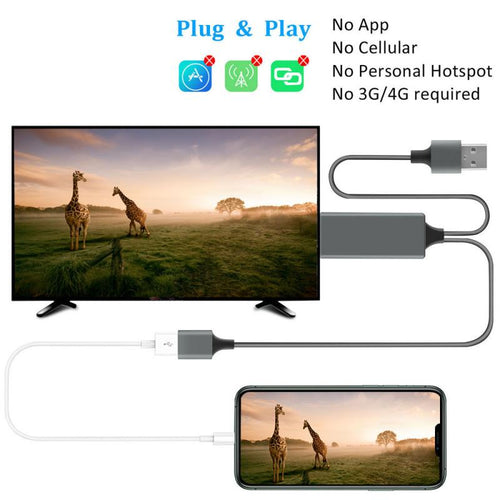 USB To HDMI Cable Converter Adapter Mirror Cast MHL Cable Micro USB Type C To HDMI