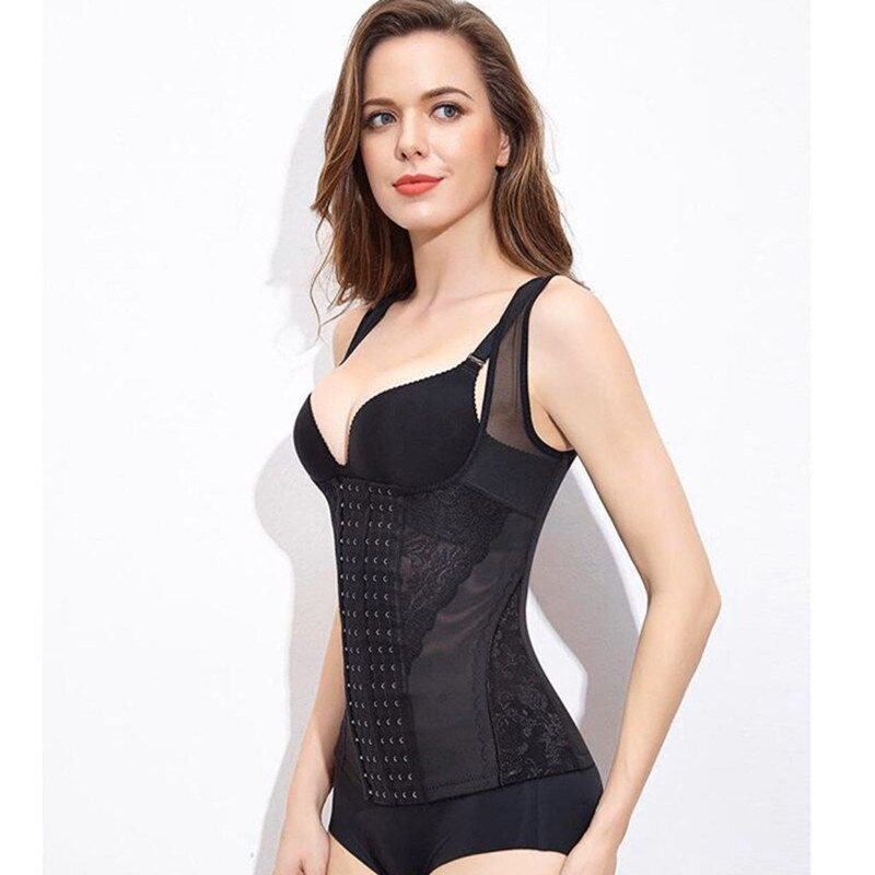 Women Large Plastic Top Underbust Girdle Waist Corsets Bandage Body Shaper