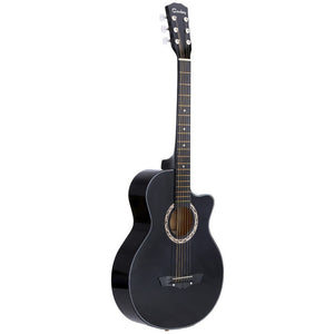 "High Quality 38"" Guitar Guitarra 38"" Acoustic Folk Guitar Durbale 6-String Basswood Guitar Black Blue Red Purple for Option - Shopatronics"