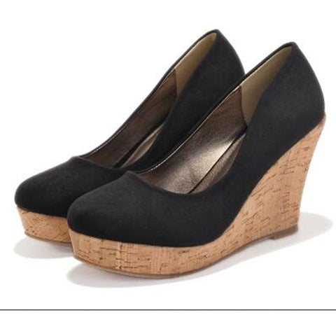 High quality 2016 Classics Brand Genuine Leather Suede Wedges High Heels Platform Round Toe Pumps Women's Shoes Zapatos Mujer - Shopatronics - One Stop Shop. Find the Best Selling Products Online Today