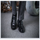 Hot Sale 2016 Fashion Men Dress Shoes Round artificial Leather Men Business Shoes Black/Brown Plus Size Men Office Shoes - Shopatronics