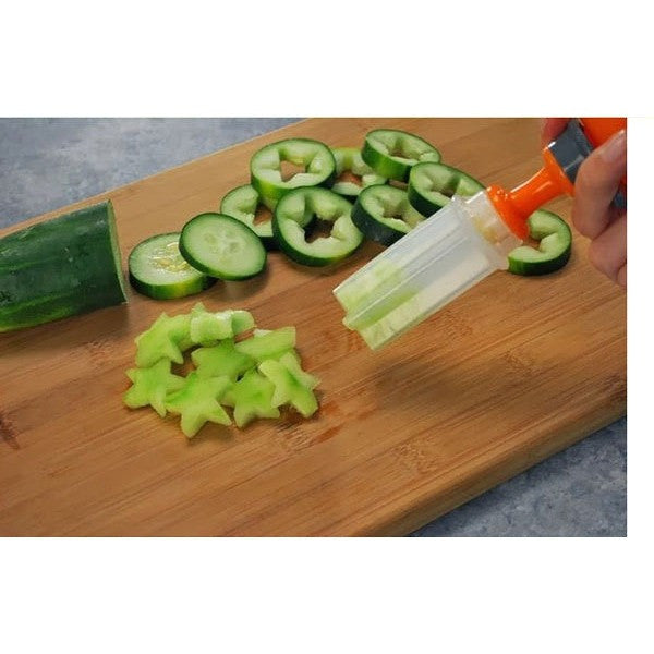 Free Shipping - Hot Sale Different Shape Plastic Fruit Cutter Vegetable Cutter Slicer Veggie Decoration Set kitchen Accessories - Shopatronics