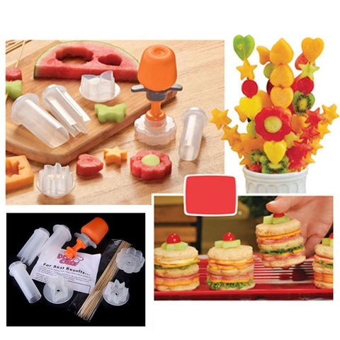 Free Shipping - Hot Sale Different Shape Plastic Fruit Cutter Vegetable Cutter Slicer Veggie Decoration Set kitchen Accessories - Shopatronics - One Stop Shop. Find the Best Selling Products Online Today