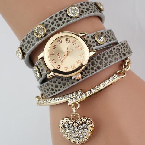 Hot Sale Fashion Luxury Heart Pendant Women Watches Women Bracelet Watch Women Wristwatches Relogio Feminino Montre Femme Reloj - Shopatronics - One Stop Shop. Find the Best Selling Products Online Today