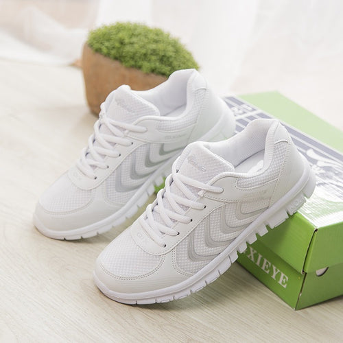 Hot Sale Fashion Women Walking Shoes Summer Lightweight Breathable Men Casual shoes Flats Zapatos Mujer Trainers - Shopatronics