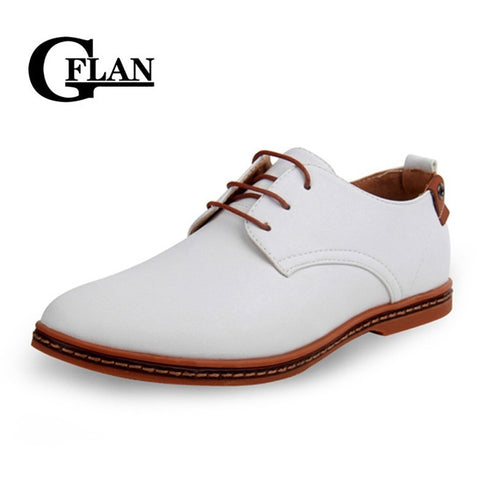 Hot Sale New oxford Casual shoes men Fashion Men Leather Shoes Spring Autumn Men Flat Patent Leather men shoes WGL-K03-1 - Shopatronics