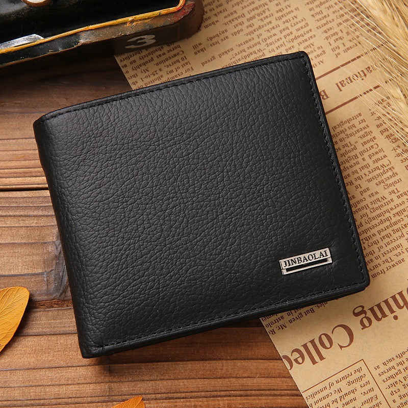 Hot Sale New style 100% genuine leather hasp design men's wallets with coin pocket fashion brand quality purse wallet for men - Shopatronics