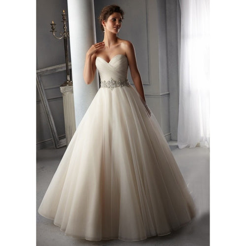 Hot Sale White Perfect Belt Robe De Mariage Strapless Lace Up Wedding Dresses - Shopatronics - One Stop Shop. Find the Best Selling Products Online Today