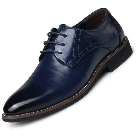 Hot ! men's Business formal leather shoes genuine leather lace up oxfords High Quality Wedding shoes pointed toe xz181 - Shopatronics