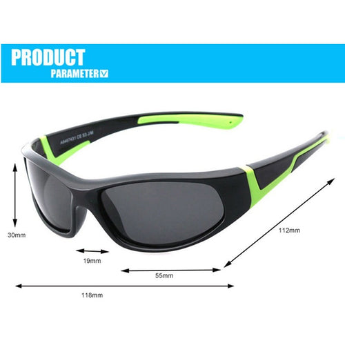 JIANGTUN  Super Light Kids Sunglasses Polarized Children Outdoor Safety Glasses Brand Designer Flexible Rubber Oculos Infantil - Shopatronics