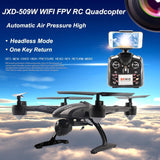 JXD509W WIFI FPV High Hold Mode One Key Return RC Quadcopter RTF 2.4GHz Drone with HD Camera - Shopatronics