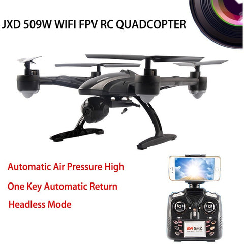 JXD509W WIFI FPV High Hold Mode One Key Return RC Quadcopter RTF 2.4GHz Drone with HD Camera - Shopatronics - One Stop Shop. Find the Best Selling Products Online Today