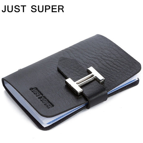Free JUST SUPER New Men & Women Business Cards Wallet Simple PU Leather Credit Card Holder/Case Fashion Bank Cards Bag ID Holders - Shopatronics - One Stop Shop. Find the Best Selling Products Online Today