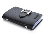 New Men & Women Business Cards Wallet Simple PU Leather Credit Card Holder/Case Fashion Bank Cards Bag ID Holders - Shopatronics