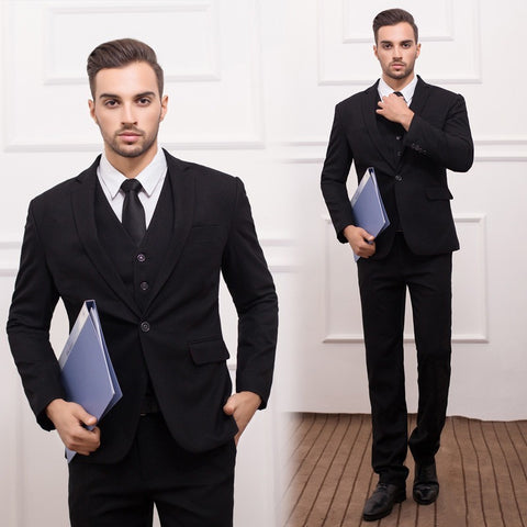 (Jackets+Vest+Pants) New Men Suits Slim Fit Tuxedo Brand Fashion Bridegroon Business Dress Wedding black Suits Blazer - Shopatronics - One Stop Shop. Find the Best Selling Products Online Today