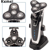 Kemei 4 in 1 Washable Men Electric Shaver Rechargeable Electric Razor Washable Nose Trimmer Beard Cutting Shaving Machine - Shopatronics