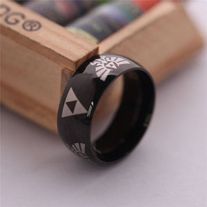 LEGEND Of ZELDA Ring Shiny Black Men'S Tungsten Carbide Wedding Ring For Men Woman High Quality - Shopatronics
