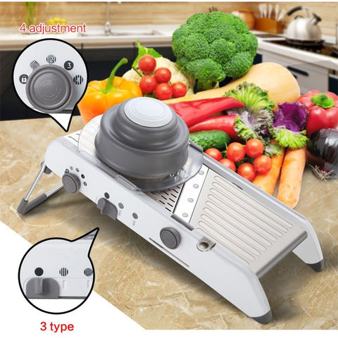 Free Shipping - Manual Vegetable Cutter Mandoline Slicer Potato Cutter Carrot Grater Julienne Fruit Vegetable Tools Kitchen Accessories - Shopatronics