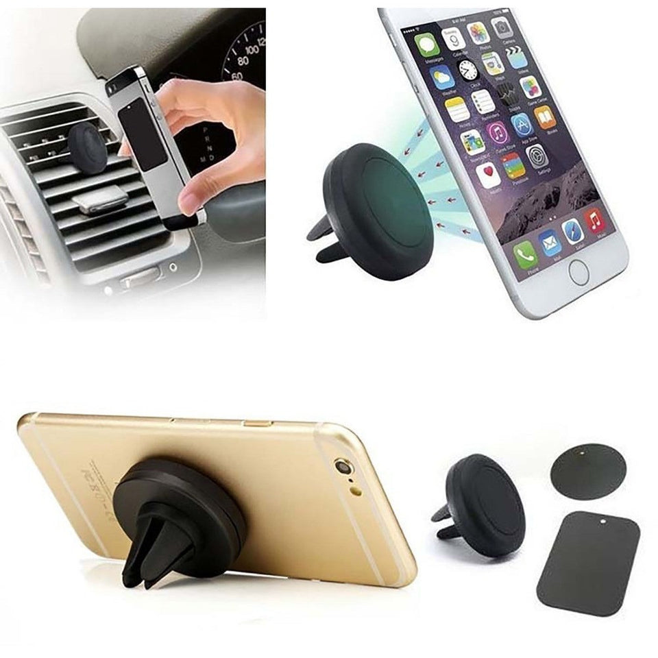 LXT 360 Degree Universal Magnetic Support Cell Phone Car Dash Holder Stand Mount For iPhone 4 5 6 Samsung LG - Shopatronics