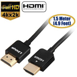 Linoya 24K Gold-plated HDMI V2.0 A-Type Male to Male Connection Cable Support 3D / 4K x 2K 1.5M 5 Color HDMI - Shopatronics