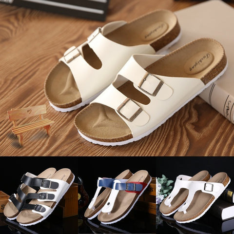 Lovers Casual Sandals Fashion cork slippers Male Summer Man Woman beach slippers flip slip-resistant trend of Sandals Female - Shopatronics - One Stop Shop. Find the Best Selling Products Online Today