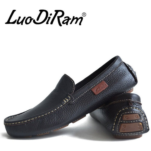 LuoDiRam Brand 2016 High Quality Genuine Leather Men Shoes, Soft Leather Men Loafers,  Fashion Mocasines Hombre, Brand Men Flats - Shopatronics - One Stop Shop. Find the Best Selling Products Online Today
