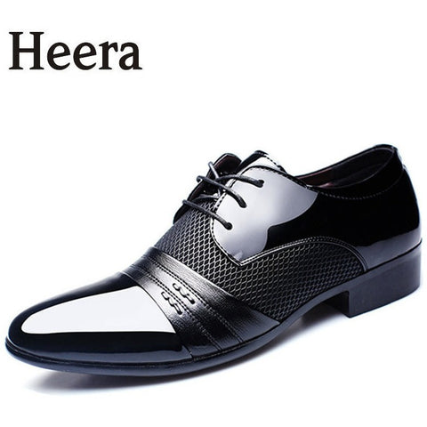 Luxury Brand Men Shoes Men's Flats Shoes Men Patent Leather Shoes Classic Oxford Shoes For Men New Fashion - Shopatronics - One Stop Shop. Find the Best Selling Products Online Today