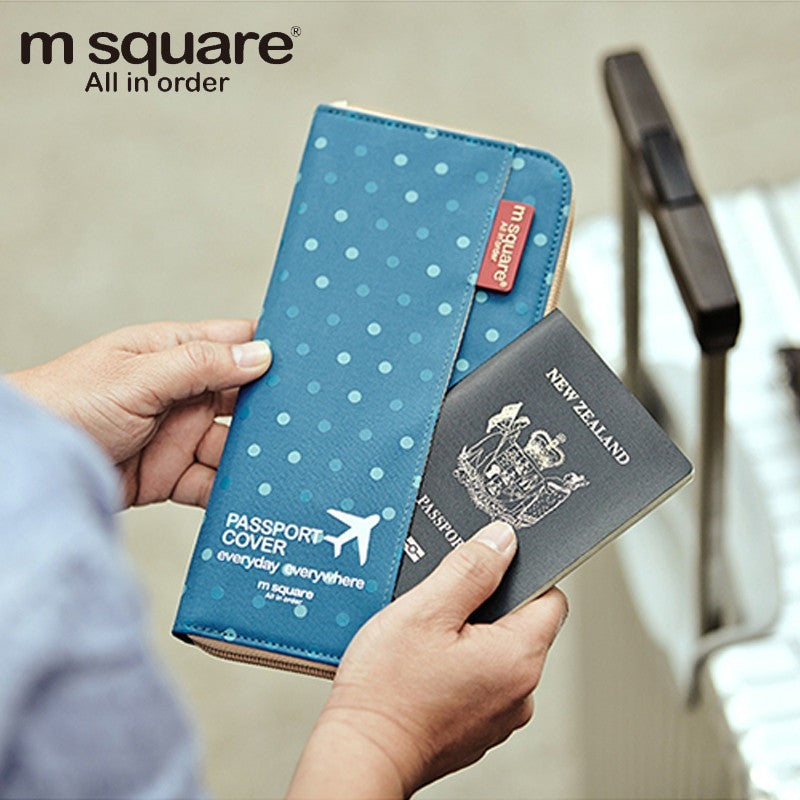 M Square Passport Cover Travel Wallet Document Passport Holder Organizer Cover on The Passport Women Business Card Holder ID - Shopatronics