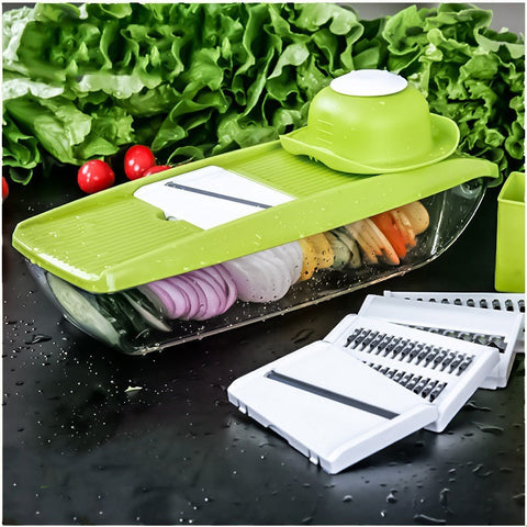 Free Shipping - Mandoline Slicer Manual Vegetable Cutter with 5 Blades Potato Carrot Grater for Vegetable Onion Slicer Kitchen Accessories - Shopatronics