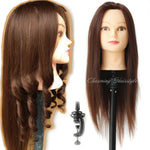 Mannequin Head Hair Heat Resistant with Hair Mannequin Head Hairdressing Training Educational Doll Heads Hair Styling Mannequins - Shopatronics