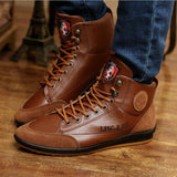 Men Boots 2016 New Arrival Men's Fashion Splicing Easy-Match PU Leather Shoes Male Casual Autumn Winter Boots 39-44 Size MXX002 - Shopatronics