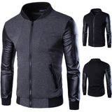 Men Hoodies Patchwork Leather Sleeve Fashion Hoodies Men Jacket Coat Brand Sweatshirt Sports Suit Pullover Tracksuits Masculino - Shopatronics - One Stop Shop. Find the Best Selling Products Online Today