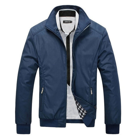 Men's Jacket Spring Autumn Jacket Solid Color Slim Plus Size Casual Coat Windbreak Outwear Y00120 - Shopatronics - One Stop Shop. Find the Best Selling Products Online Today