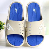 Men slippers New summer Home indoor bathroom mens slippers soft bottom bath shower slipper - Shopatronics