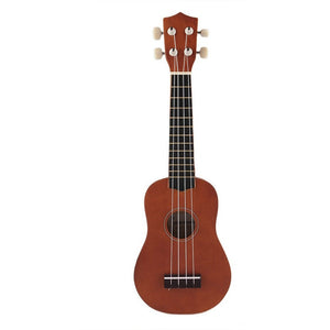"Mini Vintage 21"" Acoustic Soprano Hawaii Rosewood guitar 4 Strings Ukulele Cuatro Musical Instrument Coffee for Student - Shopatronics"