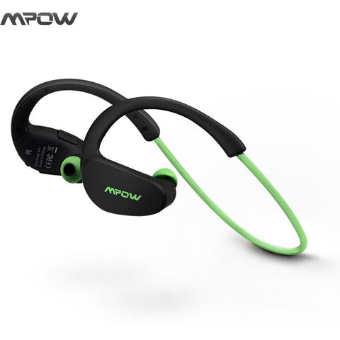 Mpow MBH6 Cheetah 4.1 Bluetooth Headset Headphones Wireless Headphone Microphone AptX Sport Earphone for iPhone Android Phone - Shopatronics