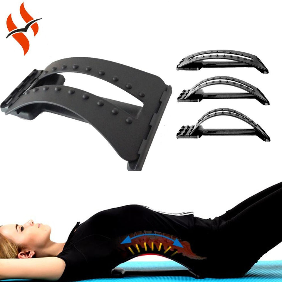 Multi-Level  Back Massage Stretching Magic Back Support Stretcher Plus Waist Relax Mate Device Fitness Equipment - Shopatronics