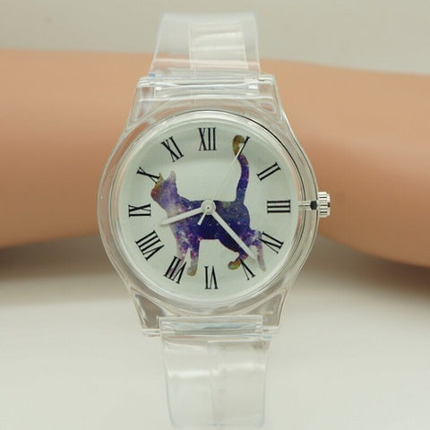 NATATE New gift Women Waterproof Quartz Casual Wristwatches Cartoon Silicone Watch 0150 - Shopatronics