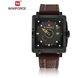Men Fashion Square Dial Analog Wristwatch Waterproof Quartz Watch - Shopatronics