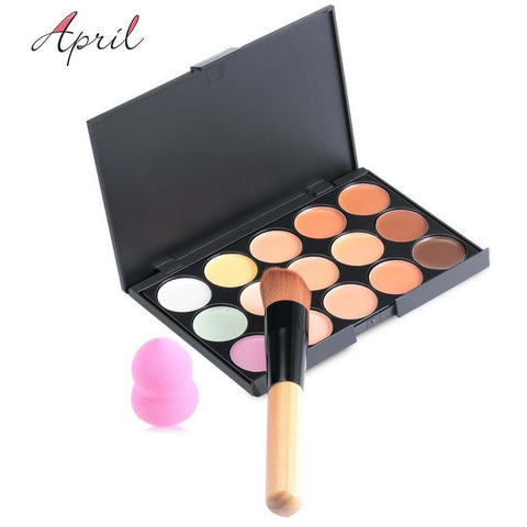 New 15 Colors Contour Face Cream Makeup Set for Pincel Maquiagem Concealer Palette with Powder Puff Brush Make Up Cosmetic Set - Shopatronics - One Stop Shop. Find the Best Selling Products Online Today