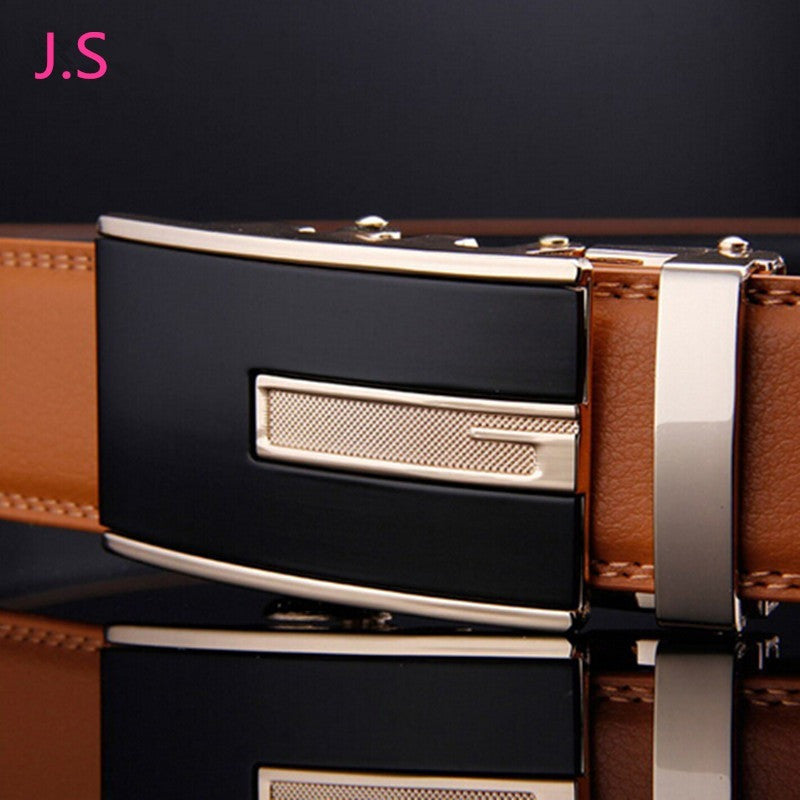 New 2016 Men's Genuine Leather Belt Designer High Quality Mens Belts Luxury Belt Brown Color Fashion Belts - Shopatronics