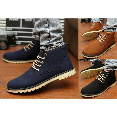 New 2016 PU Leather Men Boots Fashion Warm Cotton Brand ankle boots Shoes men for Spring Autumn Winter shoe botas hombre - Shopatronics