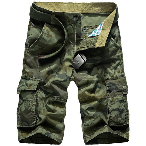 New 2016 brand men's casual camouflage loose cargo shorts men large size multi-pocket military short pants overalls 30-40 42 44 - Shopatronics